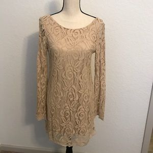 Dresses & Skirts - BEAUTIFUL BROWN LACE DRESS BRAND NEW WITH TAGS!