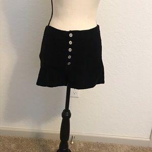 Pants - BEAUTIFUL BLACK CORDUROY LIKE HIGH WAISTED SHORTS