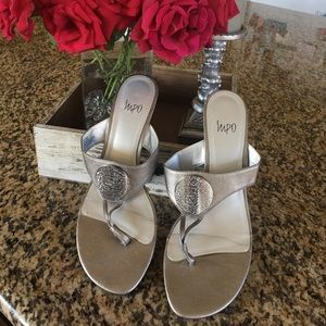 Shoes - Silver Medallion Sandal