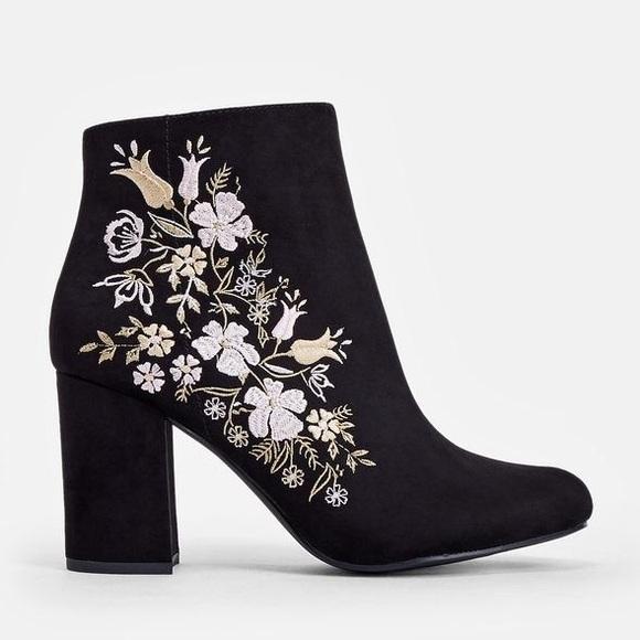 7943e4e7dcb Loreida Floral Heeled Boots NWT