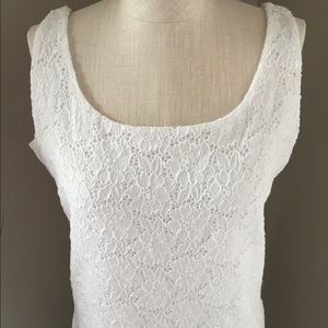 WHBM White Lace Cami