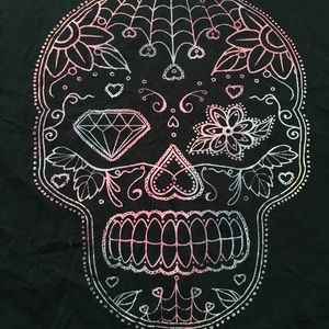 torrid Tops - EUC Sugar Skull Graphic Tee
