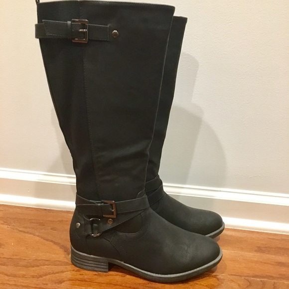 d227716b35e Buckle Harness Riding Boot Wide Calf NWT