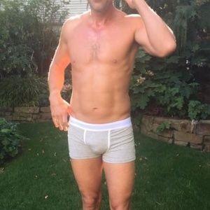 Milk boxer briefs men's underwear grey cotton NWT NWT