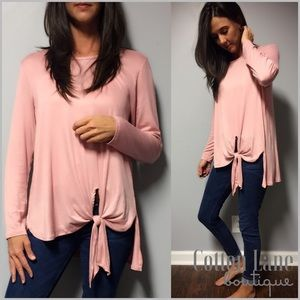 Pink Side Knot Detail Top
