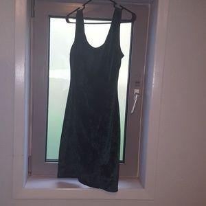 Dresses & Skirts - Emerald Green Drop Back Velvet Dress
