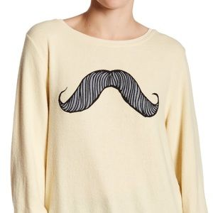 Wildfox mustache sweater pullover Top