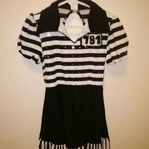 Other - SOLD Girls black and white Halloween costume