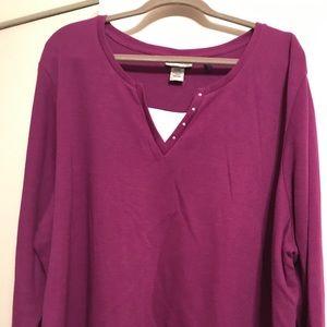 Catherine's 3x fleece lined top