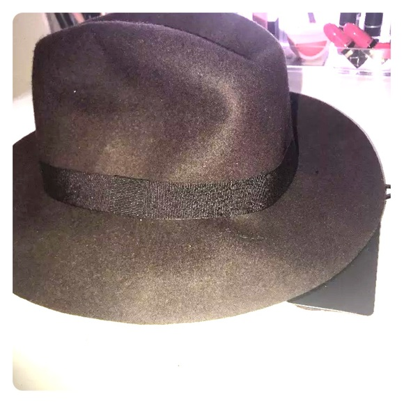 39a053fd0ee24 Brown Zara Wool Fedora hat