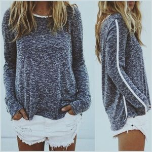 Black and Charcoal Flecked Pullover