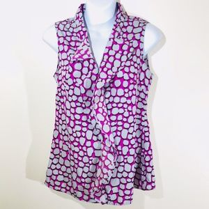 Banana Republic Purples and Grey Sleeveless Blouse