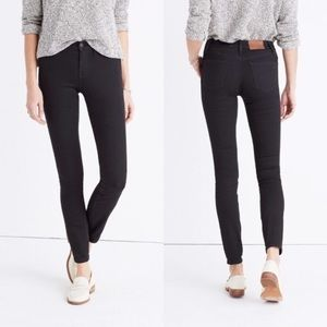 "Madewell 8"" skinny jeans in black frost 25 0"
