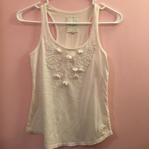 Gilly Hicks floral embroidery tank top