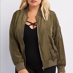 Jackets & Blazers - Plus size bomber jacket olive green