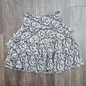 Lauren Ralph Lauren Tiered Navy Skirt - size 6