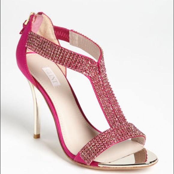 Hot Pink Rhinestone Heels