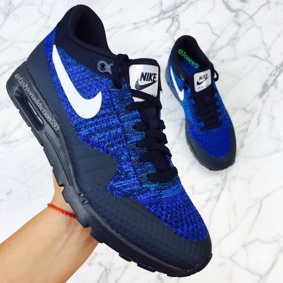 Nike Shoes Air Max 1 Ultra Flyknit Womens Blue Sneakers Poshmark