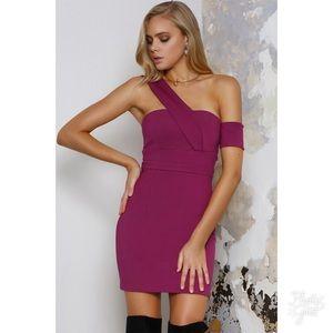 NWT Runaway Elixer magenta mini dress