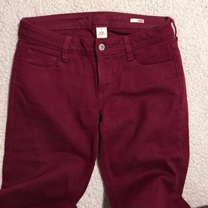 Maroon red jeans