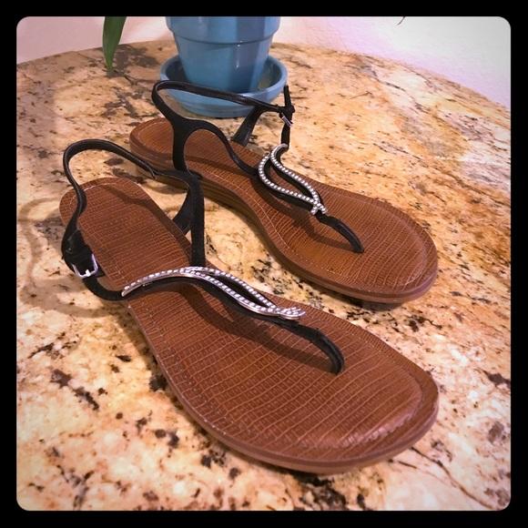 5cd297fb0  3. Carlos Santana Shoes - Carlos Santana sexy diamond strap black sandals!