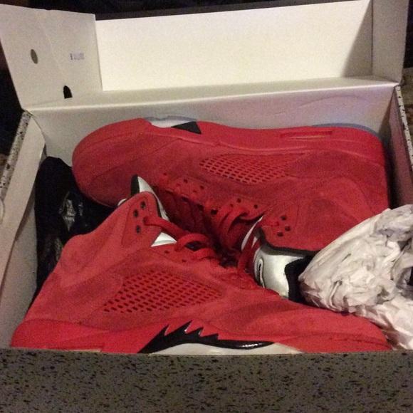 a1d2a3ef247 Air Jordan Shoes | Retro 5 Red Suede | Poshmark