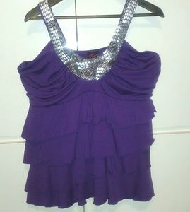 EMBELLISHED NECK LAYERED TOP - SIZE 3X..NWT