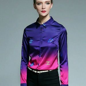 Silk blouse Chanel designed