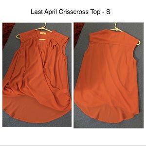 Last April Crisscross Top - S