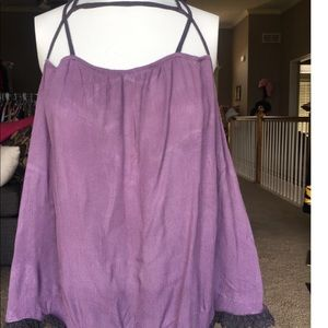 HP🎉 Free People Strappy Top in Drk Lavendar NEW!!
