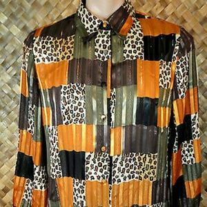 1980s YVES ST CLAIR womens Blouse. Size 12P