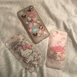Accessories - iPhone 7 super cute case bundle 💝