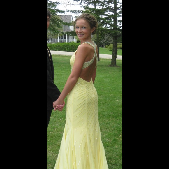 Sean Collection Dresses | Yellow Formal Gown | Poshmark