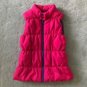 Hot pink girls zipper vest