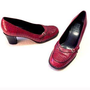 ❣BOGO 1/2 off❣ Franco Sarto red leather heels 7