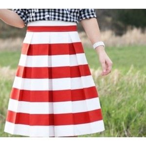 Dresses & Skirts - Corilynn Red Striped Awning Skirt