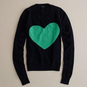 JCrew Tippi Heart Sweater