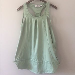 light green adidas stella mccartney tank size L