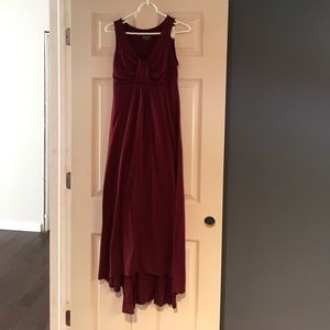 Dresses & Skirts - XS Maroon Double Layer High Quality Maxi Dress