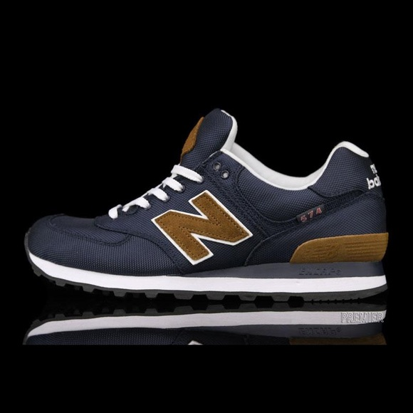 new balance navy and brown