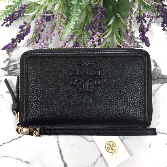 d877a9488589 Tory Burch Bags | Thea Leather Smartphone Wristlet Wallet | Poshmark
