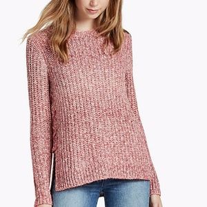 Lucky Brand Lace-Up Ombré Sweater NWT