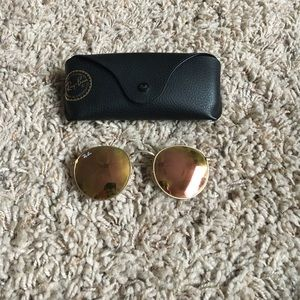 Ray ban round metal pink/copper lens/rose gold