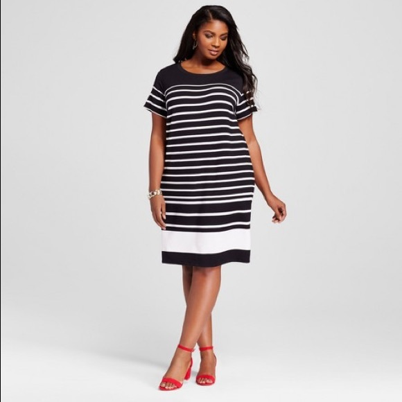 c862bf4f00f Ava   Viv Dresses   Skirts - Ava   Viv Plus Size Striped T-Shirt