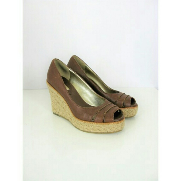 a83991d2a03 BR Dylan Leather Peep-toe Jute Wedge Espadrille