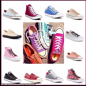 CONVERSE SNEAKERS HIGH TOPS AND LO TOP OX STYLES