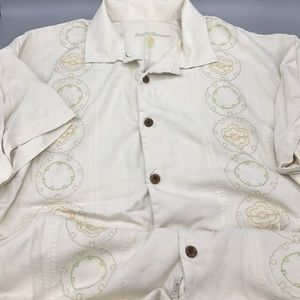 Tommy Bahama Men's Large Silk Embroidered Front