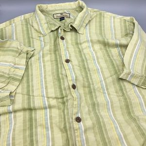 Tommy Bahama Silk Men's Short Sleeve Large Button