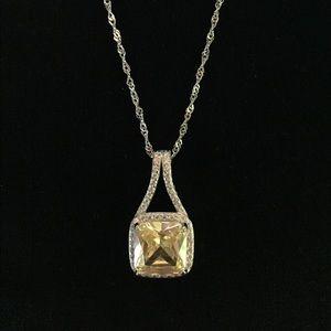 Jewelry - Yellow Topaz Pendant Necklace