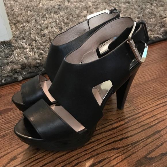 eb15c9fd27b7d Michael Kors Black Strappy Heels Size 6 1/2